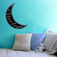Hey, I found this really awesome Etsy listing at https://www.etsy.com/listing/115484923/crescent-moon-chalkboard-wall-decal-26-x