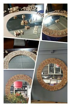 Wine cork mirror... remembering many bottles shared amongst friends.