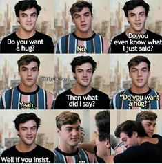 57 New Ideas Funny Texts Sister Humor Dolan Twins Imagines, Dolan Twins Memes, Ethan And Grayson Dolan, Ethan Dolan, Funny Texts, Funny Jokes, Hilarious, Dolan Twin Quotes, Dolan Twins Wallpaper