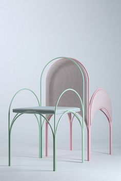 richard yasmine reflects lebanese architecture in pastel-hued furniture collection