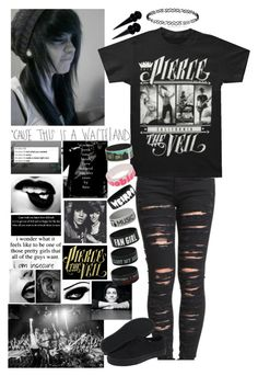 """""""""""Thankful That the Night Hides Scars"""" D Please"""" by musiclovermads ❤ liked on Polyvore featuring ADAM, BLANKNYC, Vans, Venom and Keep A Breast"""