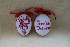 Easter eggs - cross stitch Easter egg handmade religious motif - a designer piece . - Easter Eggs – Cross stitch Easter egg handmade religious motif – a unique product by - Easter Cross, Easter Eggs, Cross Stitch, Bunny, Etsy, Christmas Ornaments, Holiday Decor, Embroidery Ideas, Handmade