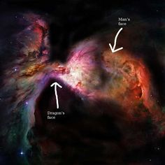 A man and a dragon are doing battle somewhere in the murky Orion nebula, if you believe your eyes.  A 2006 Hubble Space Telescope picture is creating a buzz online after a Reddit user pointed out…