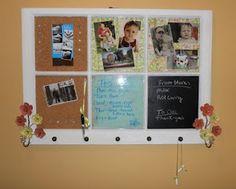 Old window message board