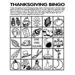 Thanksgiving Bingo 5 Coloring Pages   crayola.com