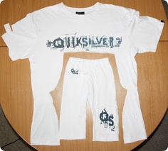 Refashioned Tshirt into PJ Pants. What a great idea!