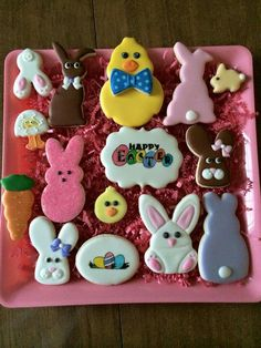 Crumb Perfect:  Easter cookie platter.  Bunnies & chicks