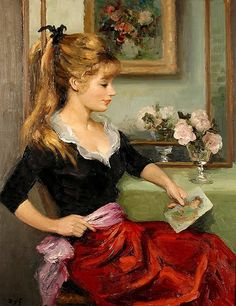 Claudine with a Print  Marcel Dyf