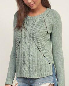 Women's Yarn-Died Easy Sweater.