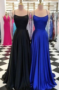 Simple Long Prom Dress With Lace up Back,Fashion Winter Formal Dress de bal longues Homecoming Dresses Long, Royal Blue Prom Dresses, Prom Dresses For Teens, Backless Prom Dresses, Dress Prom, Dress Long, Long Dresses, Bridesmaid Dresses, Graduation Dresses