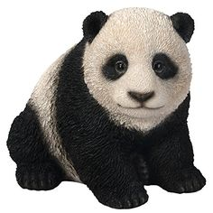 Vivid Arts Nf Pnda B Panda Resin Ornament Garden Patio Frost Resistant  Suitab