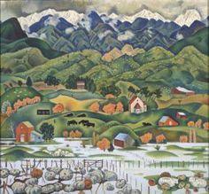 Flood, Hawke's Bay, 1955, Rita Angus