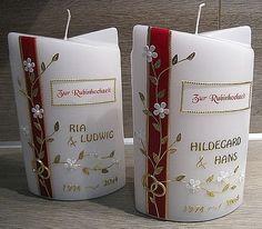 Ein tolles Geschenk zur RUBINHOCHZEIT Candle Making, Wax, Diy Crafts, Wedding, Cakes, Craft, Candles, Candle, Great Gifts