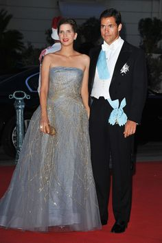Heir of the French crown, H.R.H. Louis de Bourbon, Duke of Anjou & his wife Maria Margarita Vargas Santaella. If he was king of France he would be Louis XX.