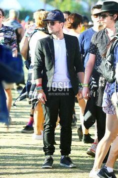 Josh Hutcherson & Nina Dobrev at the Coachella Valley Music and Arts…