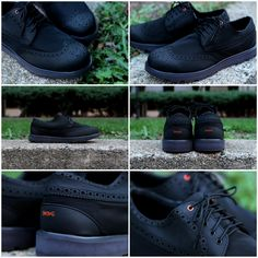 Charles Brogue shoe in black color from Swims Shoes