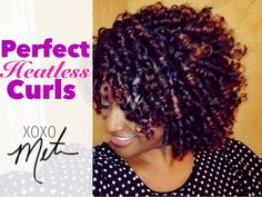 See This Gorgeous Curls? How This Woman Does These Perfect Heatless Curls Using Flexi Rod Set On Natural Hair. Just Beautiful!