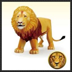 The Chronicles of Narnia – Aslan Free Papercraft Download | PaperCraftSquare.com