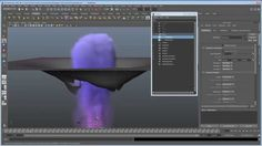 Maya Fluids and nparticles Tutorial : Fluids interacting with geometry