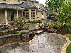 Stained concrete patio diy pools ideas for 2019 Concrete Patios, Concrete Patio Designs, Backyard Patio Designs, Backyard Landscaping, Patio Ideas, Landscaping Ideas, Pavers Patio, Backyard Ideas, Stamped Concrete Designs