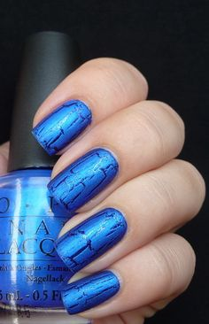 OPI Blue Shatter | #EssentialBeautySwatches | BeautyBay.com