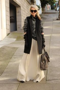 AGAIN Chick Outfit: totally don't care, I need a sleeveless wool coat now!