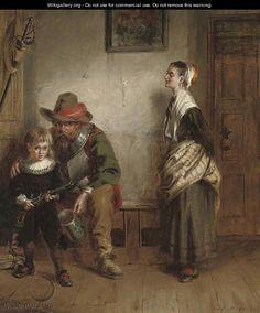 """The Young Royalist"", by Laslett John Pott (British, 1837-1898)."