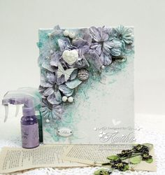 Hello everyone, i am back with another floral canvas,you can check my first one HERE .I absolutely love making this,wish i can make th...