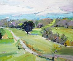 """With my Sydney show done and dusted it's time to focus on some commissioned pieces. """"Landscape at Mt Buller"""", 61X75cm #landscape #painting #artgallery #Sydney #mtbuller"""