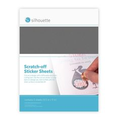 "Silhouette Printable Scratch-Off Sticker Sheets 8.5""X11"" 5pk - Silver"