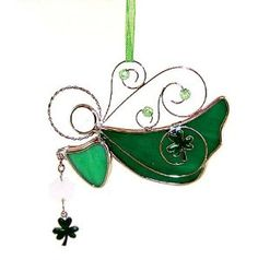 Irish Angel Suncatcher - Decorating a Garden for St. Patrick's Day