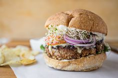 "A Cozy Sandwich: ""The Veggie Burger"", And Finding Deliciousness In What Actually Is via @thecozyapron"