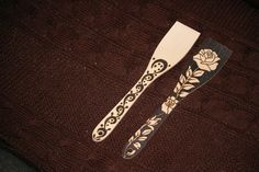 Pyrography Spoon - Rose