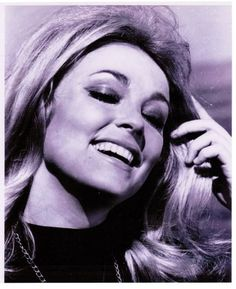 Happy Sharon on the set of Eye of The Devil