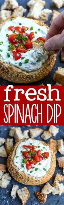 Love deli-style chil Love deli-style chilled spinach dip? My...  Love deli-style chil Love deli-style chilled spinach dip? My fresh spinach dip recipe is cold and creamy! Try it in a hollowed out bread bowl for a fun party appetizer! Recipe : http://ift.tt/1hGiZgA And @ItsNutella  http://ift.tt/2v8iUYW