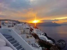 What a remarkable sunrise view from Oia, Santorini island, Greece - selected by oiamansion.com