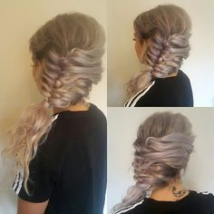 Side french fishtail style