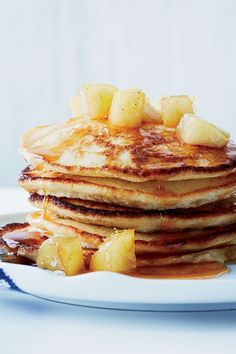 This quick and easy 40-minute pancake recipe incorporates apples, cinnamon, lemon, ricotta and warm maple syrup to create the ultimate fall breakfast recipe. Whether you're looking to eat this apple recipe alongside fresh fruits, eggs, bacon or sausage, it's a great choice for a fall recipe. #fallrecipes #applerecipes #applepancakes #pancakerecipes #breakfastrecipes #brunchrecipes Best Brunch Recipes, Breakfast Recipes, Apple Recipes, Fall Recipes, Lemon Ricotta Pancakes, Caramelised Apples, Fall Breakfast, Vegetarian Cheese, Maple Syrup
