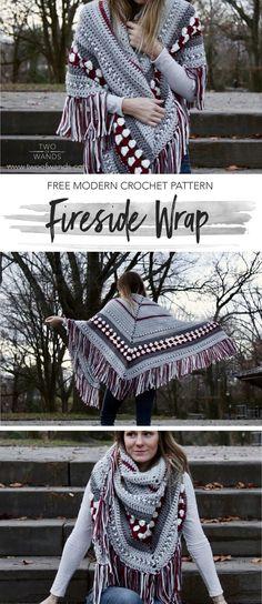 Fireside Wrap pattern by Two of Wands