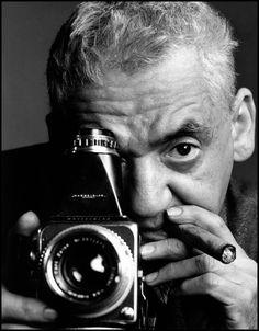 """""""I got film in my blood,"""" —Weegee 📷 Philippe Halsman/Magnum Photos, New York City, 1961"""