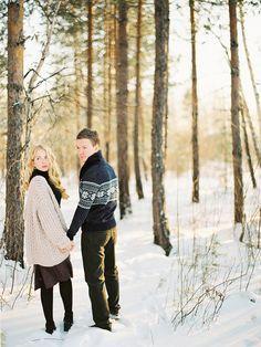Russia engagement photos http://trendybride.net/fine-art-russia-winter-engagement-shoot/ {trendy bride} #contax645