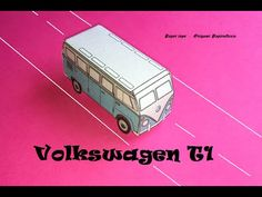 Paper toys. Origami - Papiroflexia. Volkswagen T1