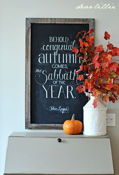Dear Lillie: A Desk Makeover and Autumn Chalkboard