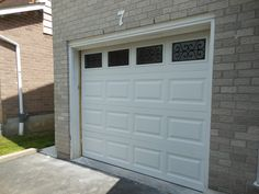 garage door with windows wrought iron short collection