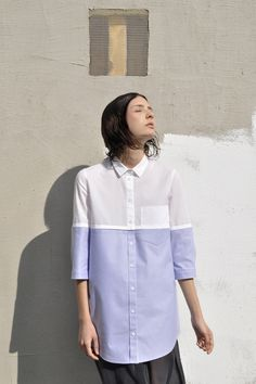 two shirts in one, contrast detail