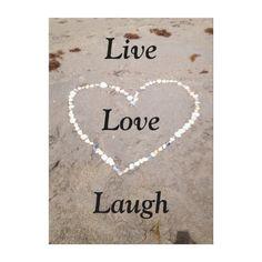 Beach Shell Heart. Live Love Laugh Canvas Prints