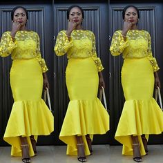 The aso ebi styles is a staple and its no longer a Nigerian thing as there are other countries that have begun to buy into this awesome idea, why go to the African Lace, African Wear, African Dress, African Style, African Women, African Inspired Fashion, African Fashion Dresses, Modest Dresses, Short Dresses