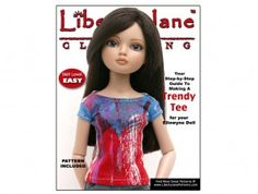 Free T-Shirt Pattern for Ellowyne Dolls | Liberty Jane Doll Clothes Patterns For American Girl Dolls