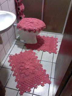 Jogo de banheiro em crochê | Mônica Crochê | Elo7