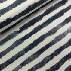 Denim Stripes, Jersey, 14,90 EUR / Meter - Bild vergrößern Striped Jersey, Animal Print Rug, Stripes, Denim, Fabrics, Stripped Shirt, Jeans